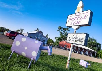 The Purple Cow Ice Cream Parlor