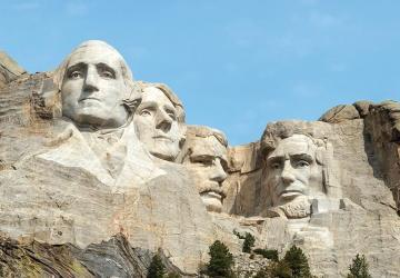Mount Rushmore Flags